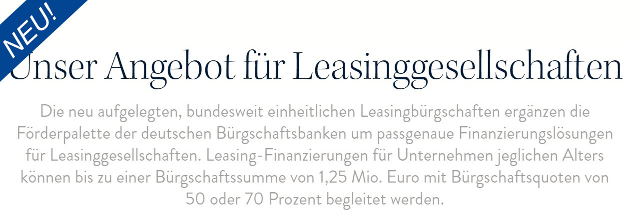 Leasingangebot